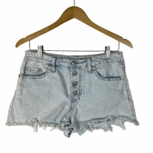 WILD FABLE Women Light-washed Button Front Shorts